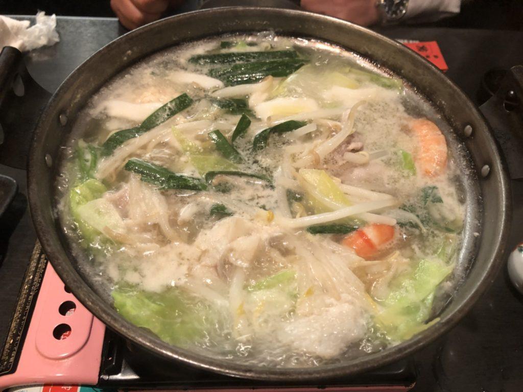 海鮮白鍋の写真