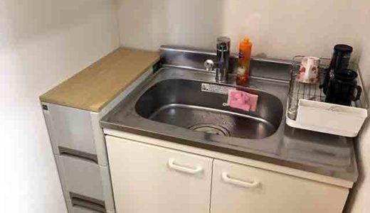 キッチンシンク横スペースに収納を考えてみた